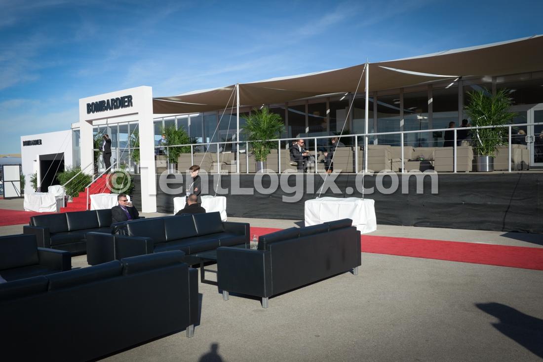 Las vega tent rental nbaa 2015 tentlogix for Pool trade show las vegas 2015