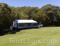 golf course tent with glass walls