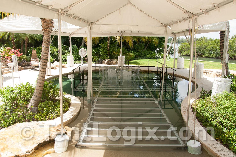 pool cover rental pool cover dance floors tentlogix. Black Bedroom Furniture Sets. Home Design Ideas