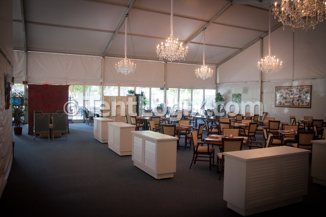 long term clear span tent rental