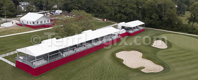 golf tournament tents and scaffold floor