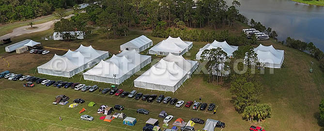 music festival pole tents