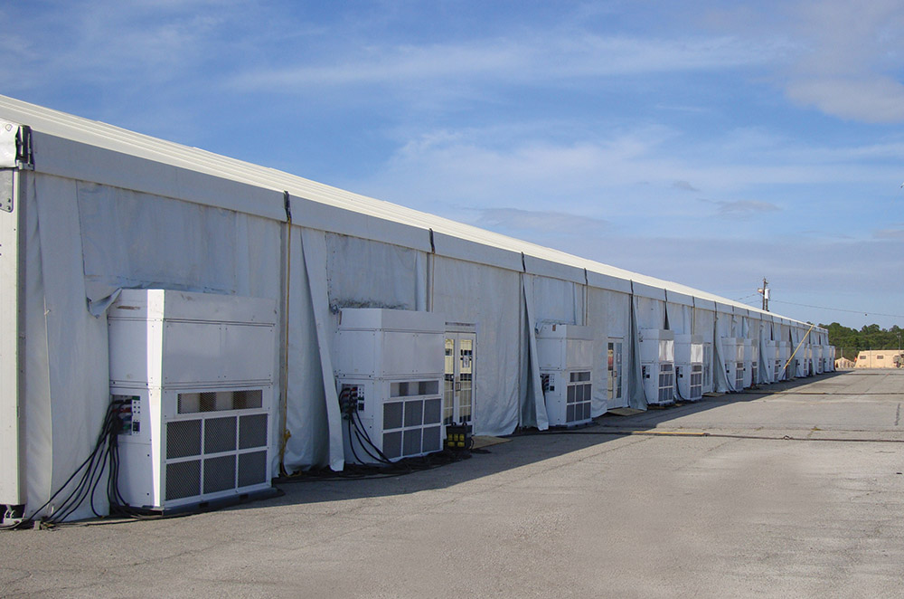 clear span tent structure air conditioners