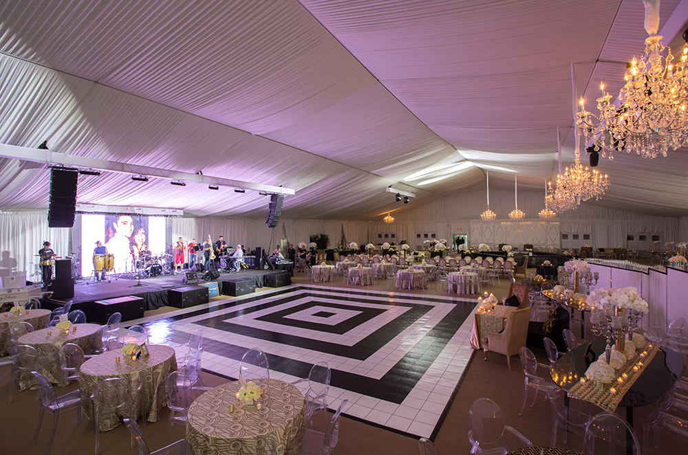 wedding tent and dance floor