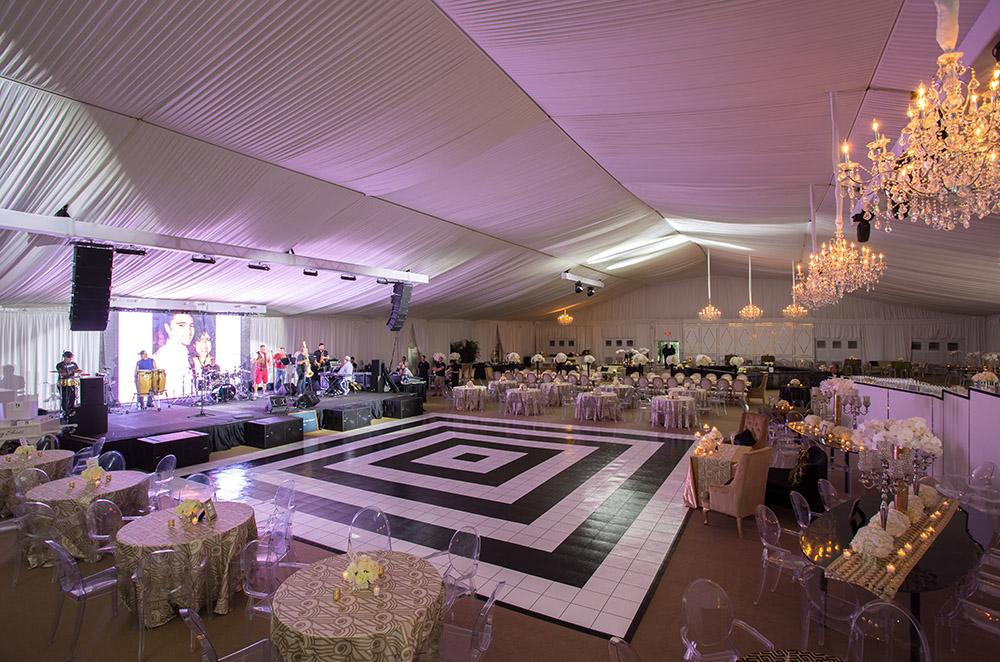 wedding tent and dance floor