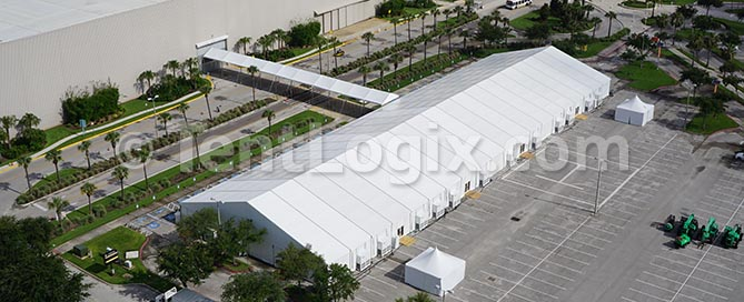 trade show clear span structure