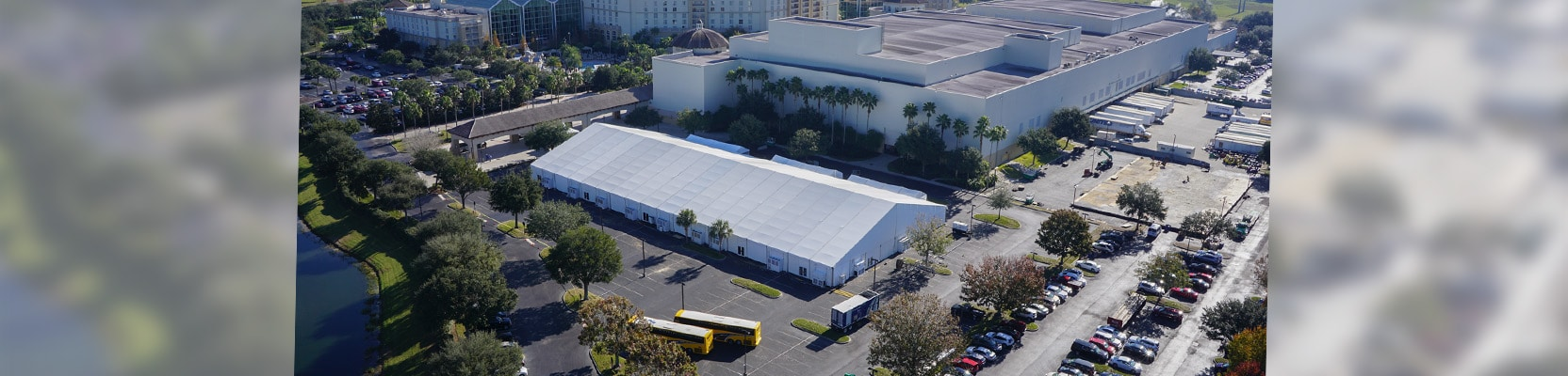 trade show corporate tent structure