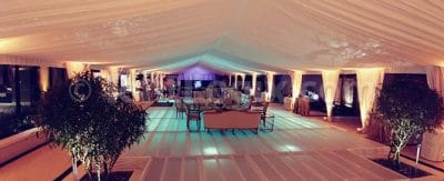 wedding tent with pool cover